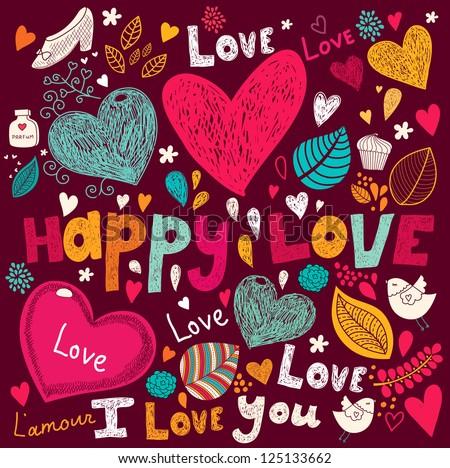 Vector art Valentine Greeting card - stock vector