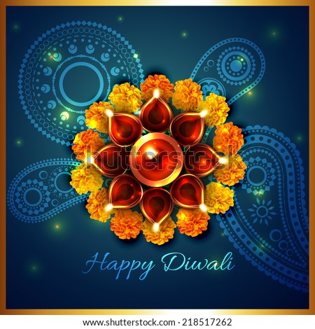 Vector artistic background of diwali - stock vector