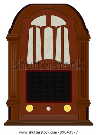 Vector artwork an old radio - stock vector
