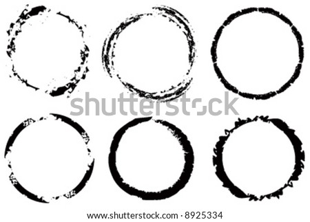 Vector assorted grunge circles - stock vector