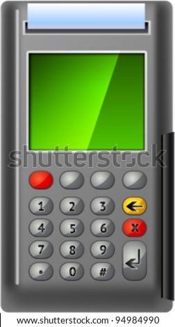 Vector ATM grey metallic realistic, eps 10 - stock vector
