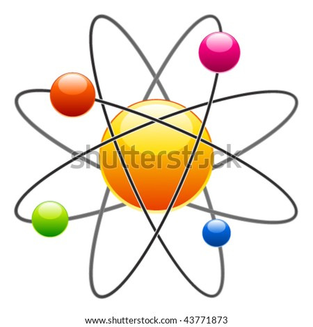 vector atom - stock vector