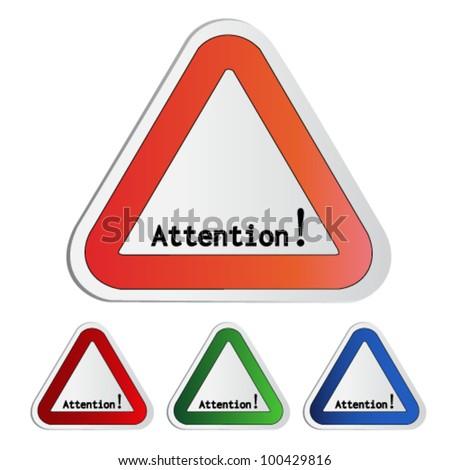Vector attention symbol - secure warning - stock vector