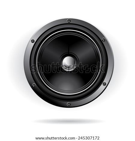Vector audio speaker - stock vector