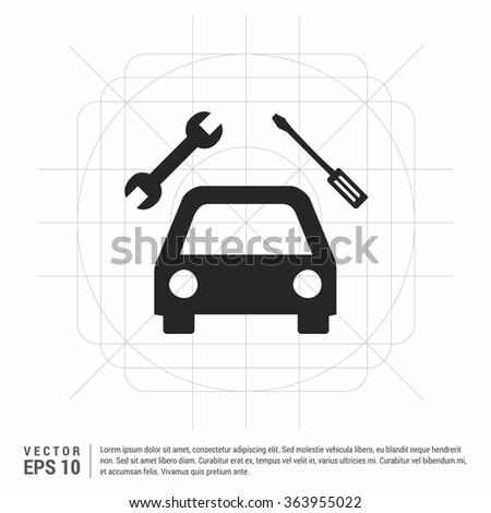 Vector auto workshop icon - stock vector