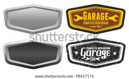 Vector automotive, motorcycle badge. Signs and labels. - stock vector