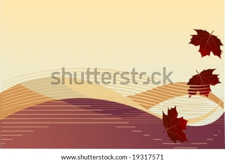 Vector: autumn background. For the jpg-version, see my portfolio please (click on my name). - stock vector