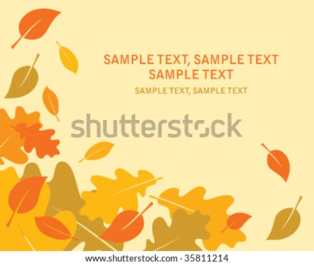vector autumn leaves 1