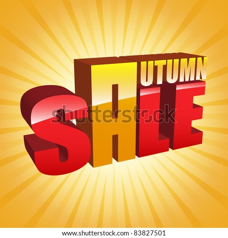 vector autumn sale with - stock vector