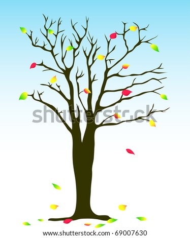 Vector autumn tree illustration