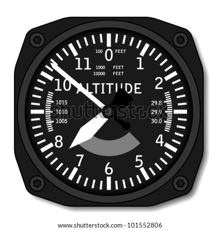 vector aviation airplane altimeter - stock vector