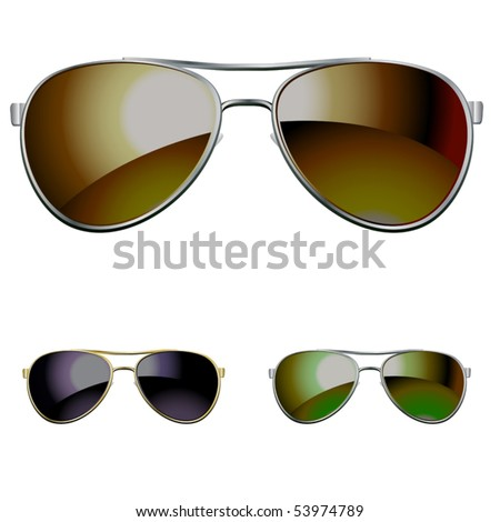 vector aviators. you can easy put it on your picture - stock vector