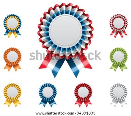 Vector award badges set - stock vector