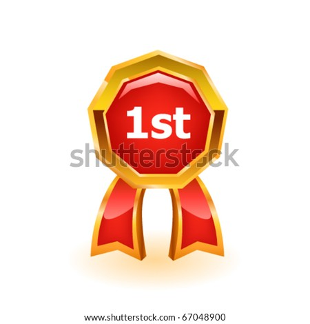 Vector award ribbon - stock vector