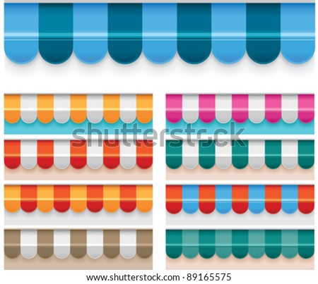 Vector awnings - stock vector
