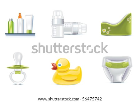 Vector baby icons. Part 1 - stock vector