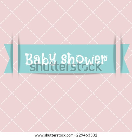 vector Baby shower card. Arrival card. - stock vector