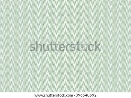 Vector backgroud - guilloche texture - green pattern. For certificate, voucher, banknote, money design, currency, note, check, ticket, reward etc. Eps 10. - stock vector