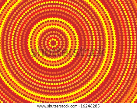Vector background aboriginal style symbolic design. - stock vector