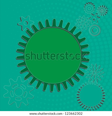 Vector Background- Abstract gear wheels - stock vector