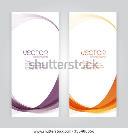 vector background Abstract header Violet orange wave whit vector design on gray - stock vector