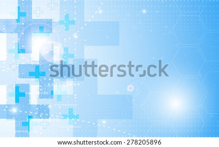 vector background abstract health care concept - stock vector