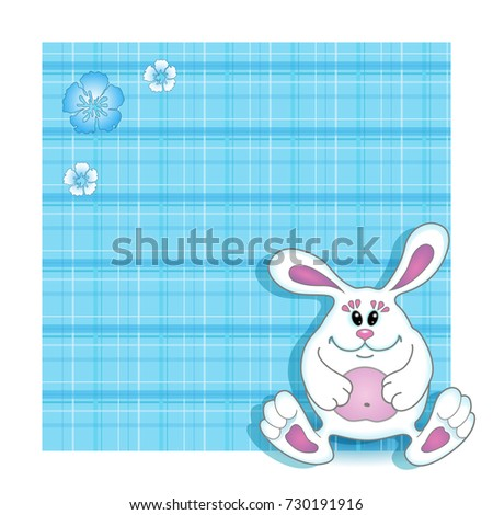 Vector Background Birthday Card Child Blue Vector 730191916 – Birthday Card for Child