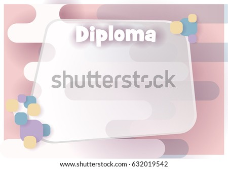Vector Background Blank Diploma Rounded Forms Stock Vector 632019542 ...