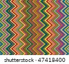 Vector background bright and colorful made of zig zag stripes - stock vector