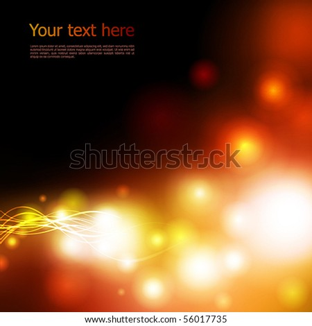 Vector Background. Bright Lights on black - stock vector