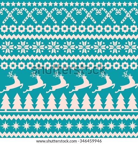 Vector background Christmas seamless pattern in the nordic style/Christmas seamless pattern in the nordic style/Christmas seamless background - stock vector