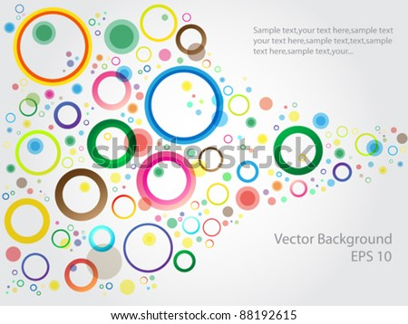 Vector Background Color Bubbles Set - stock vector