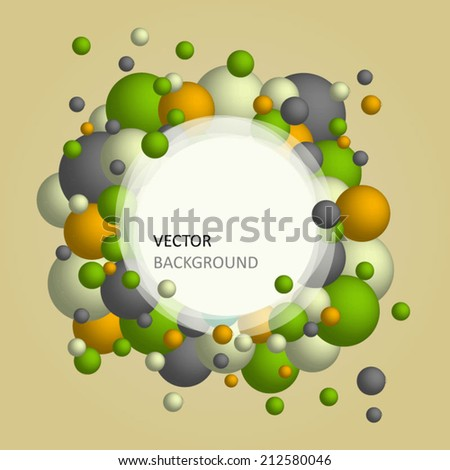 vector background colorful bubbles eps 10 - stock vector