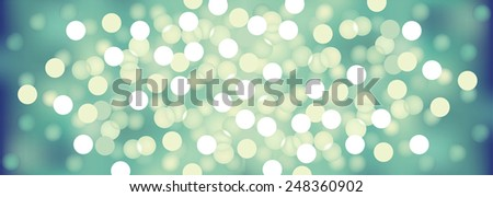Vector background defocused festive lights, no size limit - stock vector
