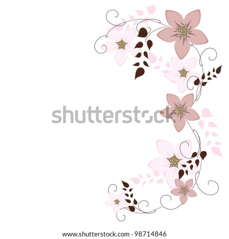 Vector background floral - stock vector