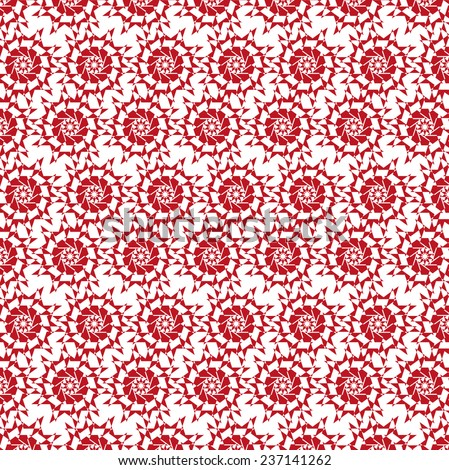 Vector Background. Floral Pattern, Wallpaper with Flowers.