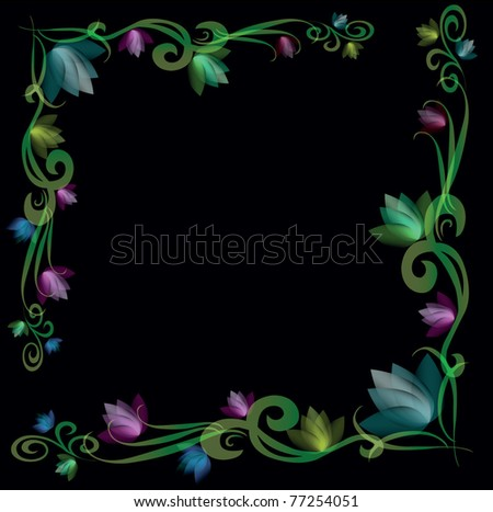 vector background flowers  post card - stock vector