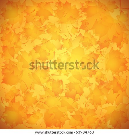 Vector background for design on a theme of autumn - stock vector