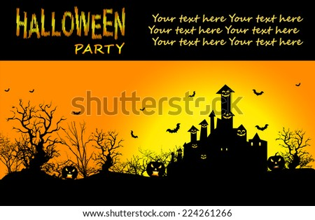 Vector Background for Halloween. Eps /10. Vector - stock vector
