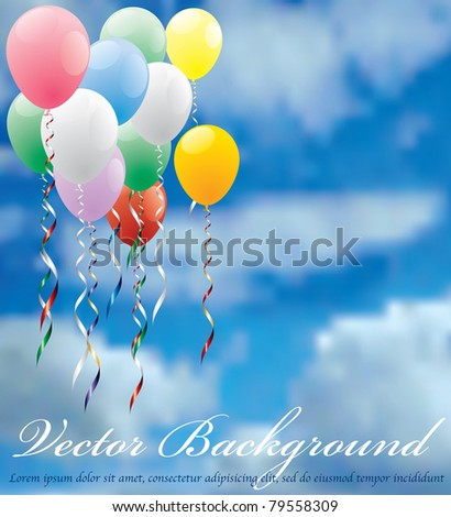 vector background for holidays or birthday - stock vector
