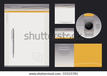 Vector background for  letterhead, pen, business card; notepaper; cover CD, envelope. - stock vector