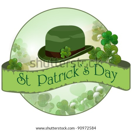Vector background for St. Patrick`s Day - stock vector