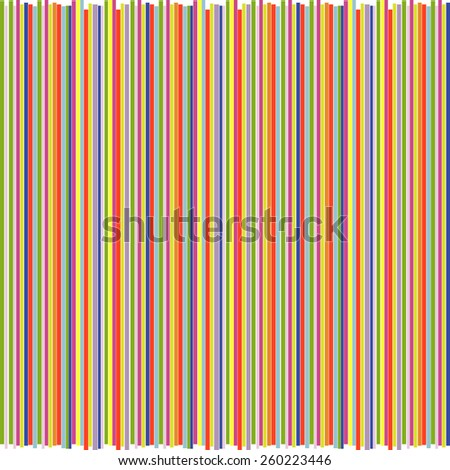 vector background from colorful think straight line with rugged edge - stock vector
