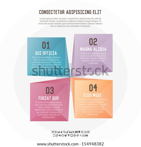 Vector background illustration of text box top view banners. - stock vector