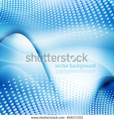 Vector background in blue colors - stock vector