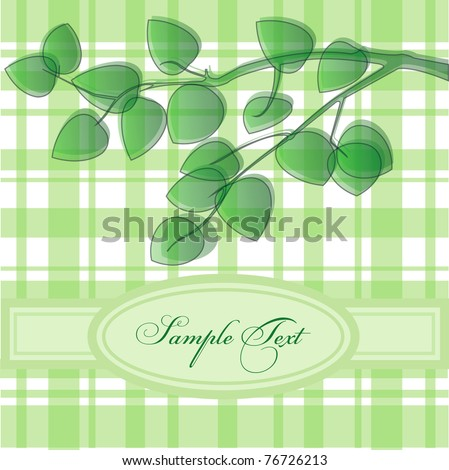 vector background leaves - stock vector