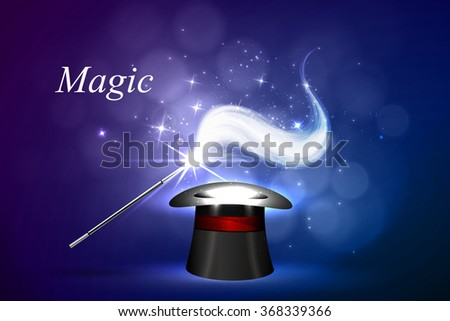 Vector background magic Glov, the concept of magic.