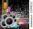 Vector Background Music - stock vector