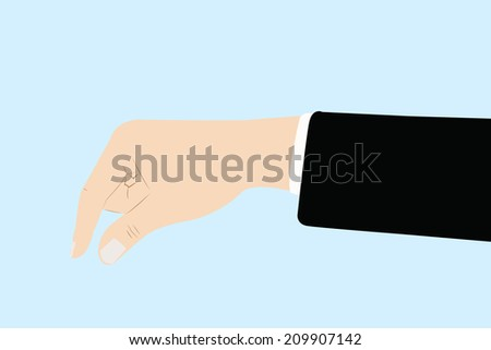 vector background of business hand in pinking up gesture