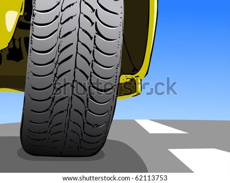 Vector background of car design - stock vector